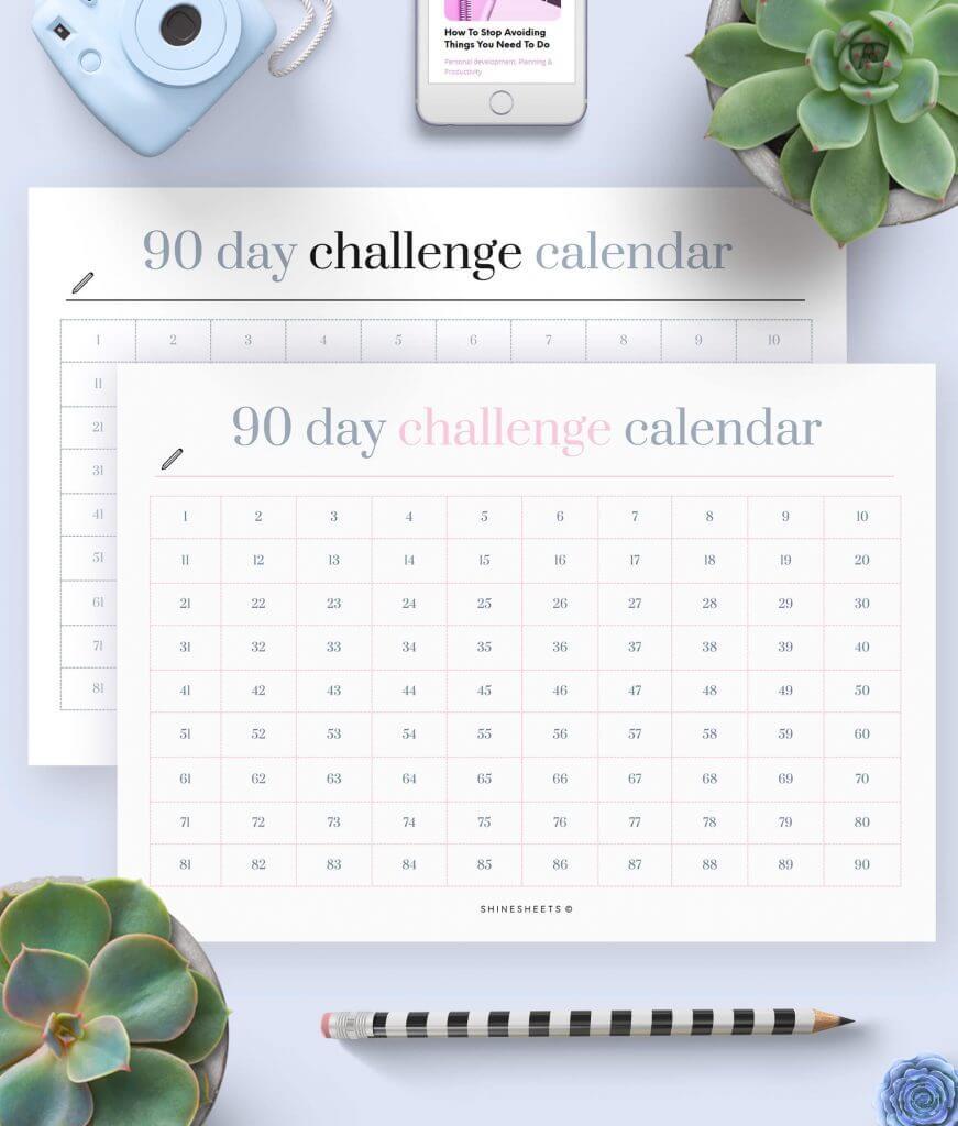 Challenge Calendar Printable – 1(1)