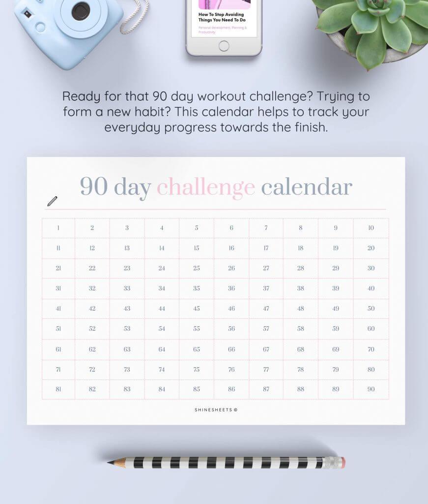 Challenge Calendar Printable – 2(1)