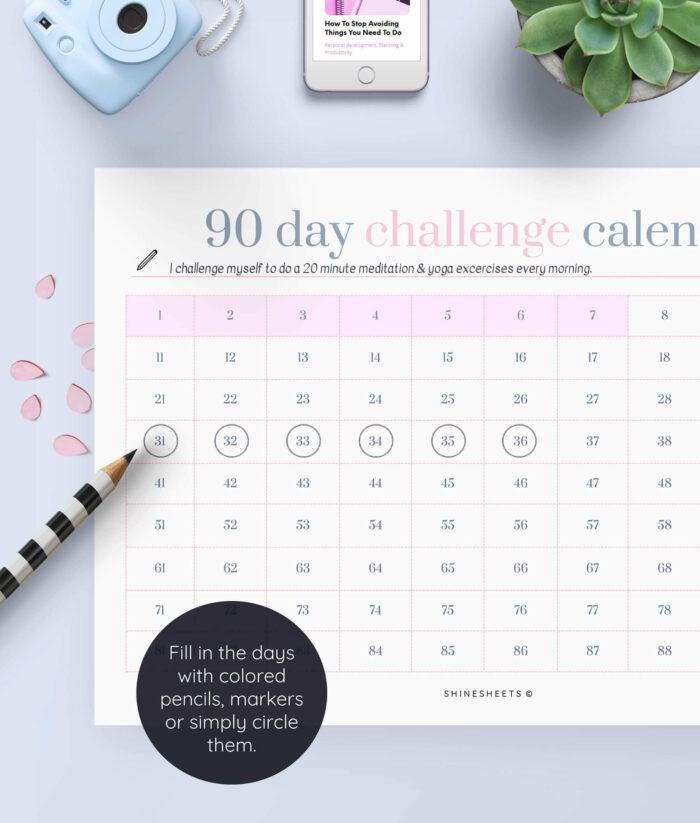 Challenge Calendar Printable – 3(1)