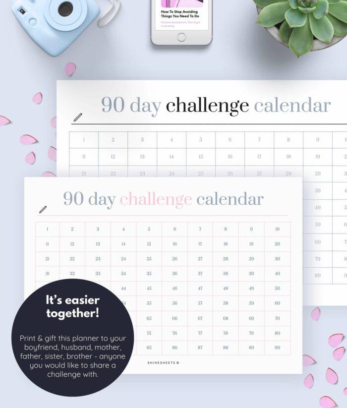 Challenge Calendar Printable – 4(1)