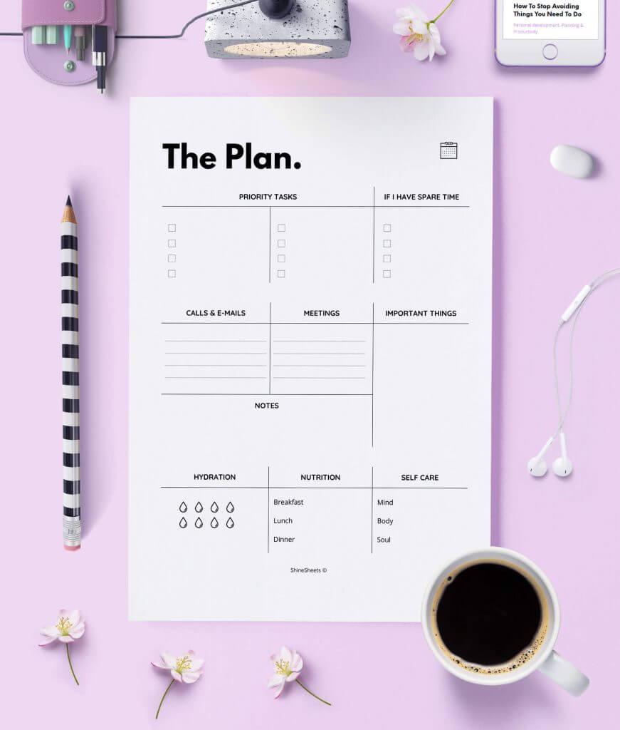 Daily Planner – Agenda Printable – 1(1)