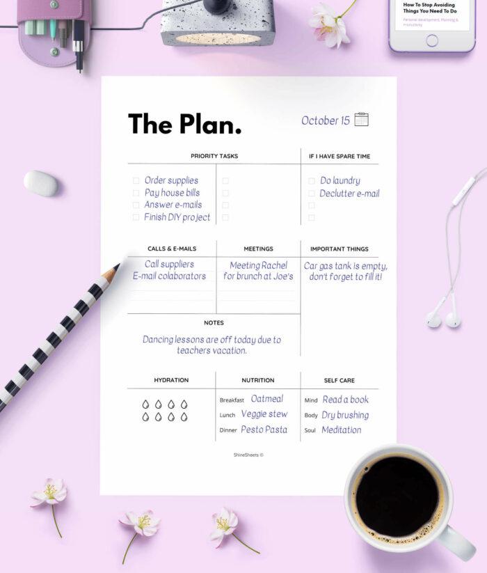 Daily Planner – Agenda Printable – 3(1)
