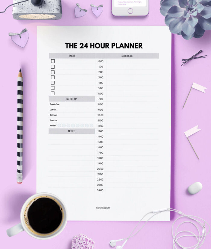 Daily Planner Printable 24 Hour Layout 1(1)