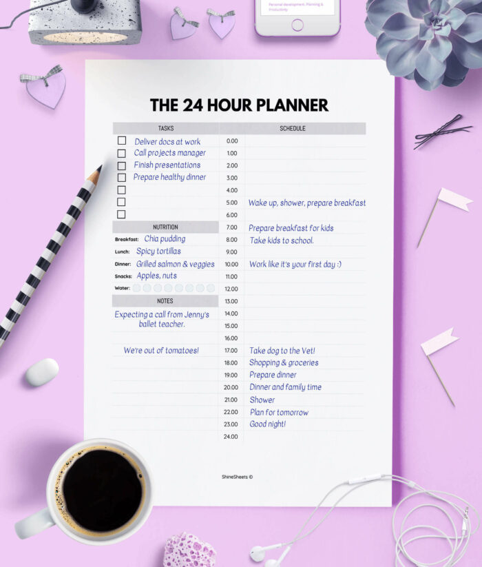 Daily Planner Printable 24 Hour Layout 2(1)