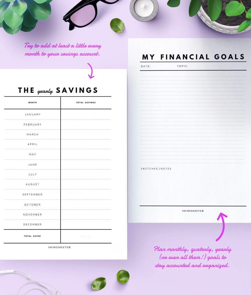 Finance Tracker Printable – 7(1)
