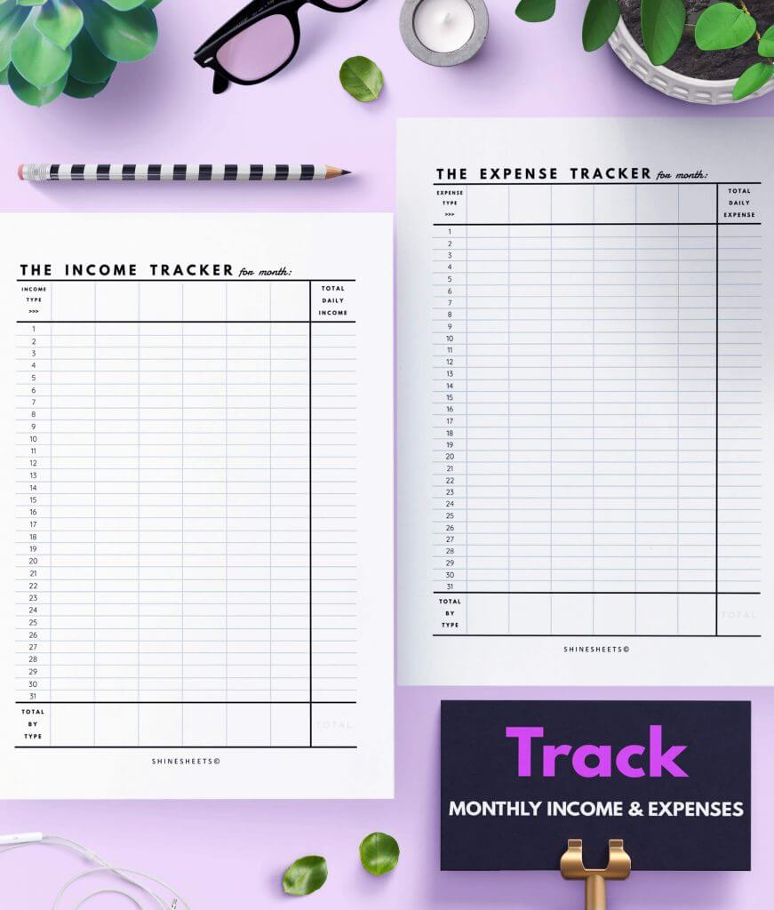 Finance Tracker Printable – 8
