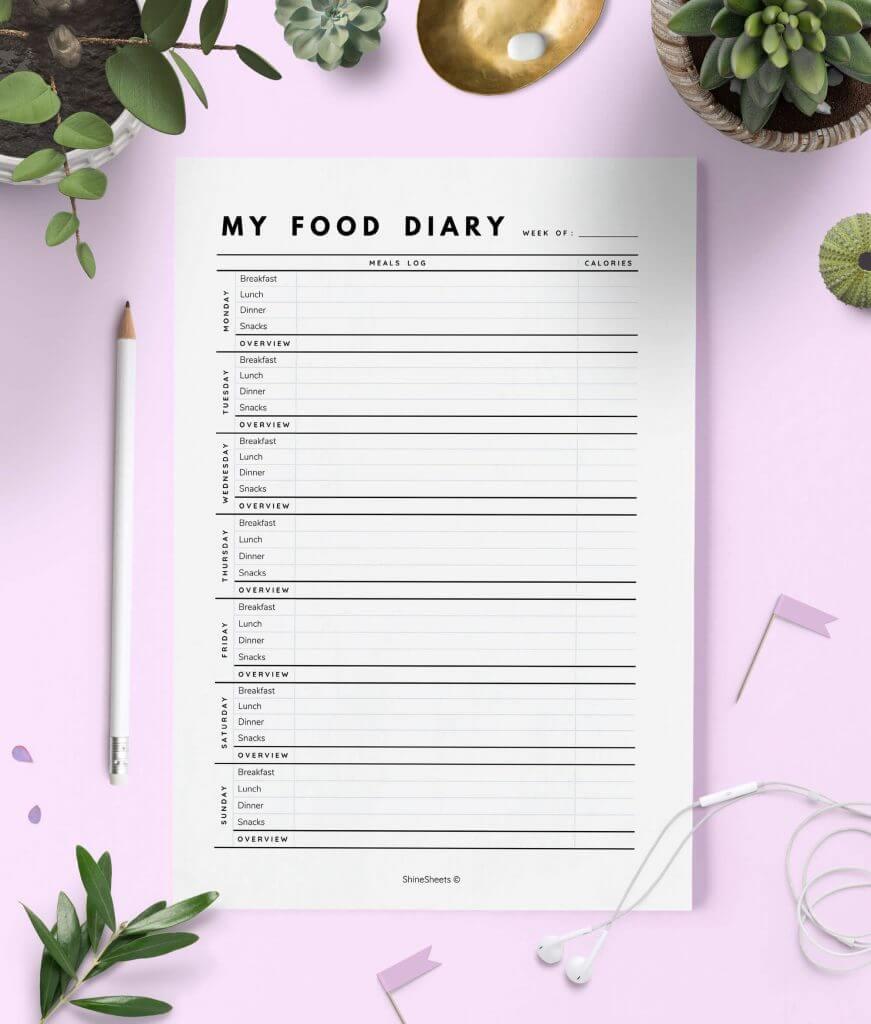 Food Diary Printable – 1(1)
