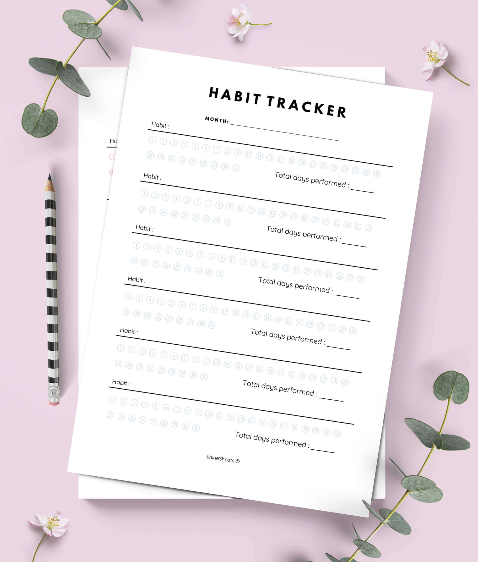 image relating to Habit Tracker Printable called Routine Tracker Printable