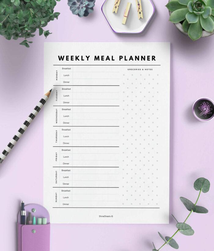 Meal Planner Printable – 1(1)