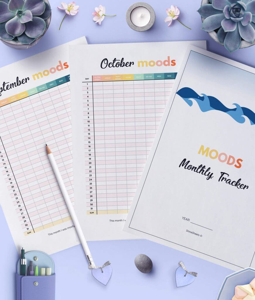 Monthly Mood Tracking Journal Printable 3(1)
