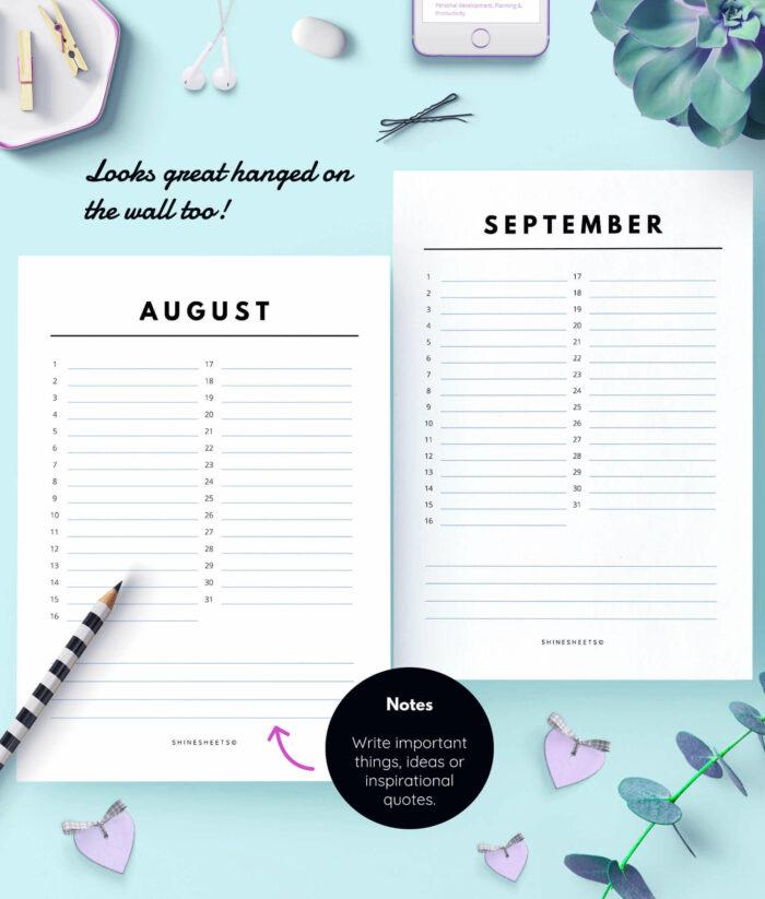 Perpetual Calendar – Birthday Calendar Printable – 3(1)