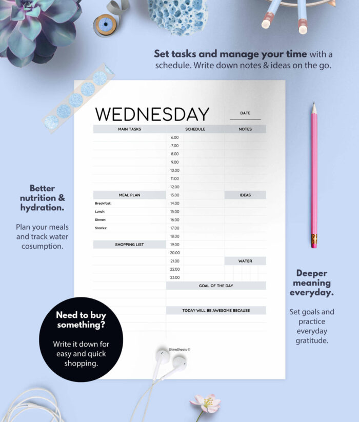 Weekly Planner Day On One Page Printable 2(1)