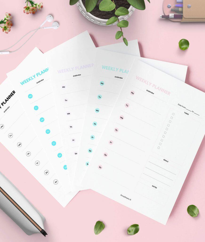 Weekly Planner Printable Color Pack – 1(1)