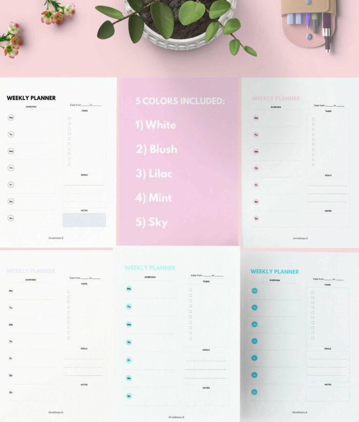 Weekly Planner Printable Color Pack – 2(1)