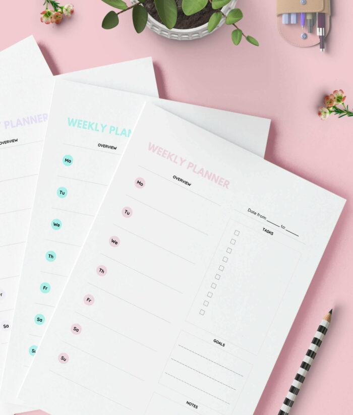 Weekly Planner Printable Color Pack – 3(1)
