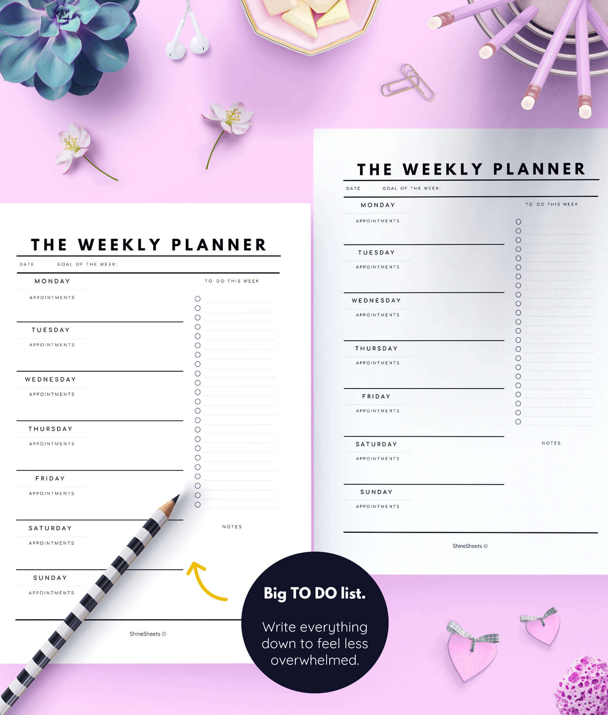 photograph regarding Printable Planner named Planner Principles Deal Printable / 5 Webpages