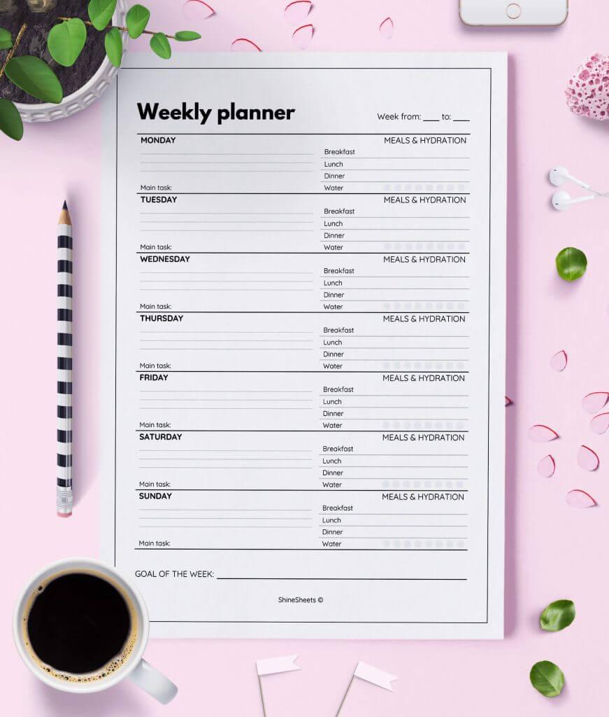 Weekly Planner Printable Week On Two Pages – 2(1)