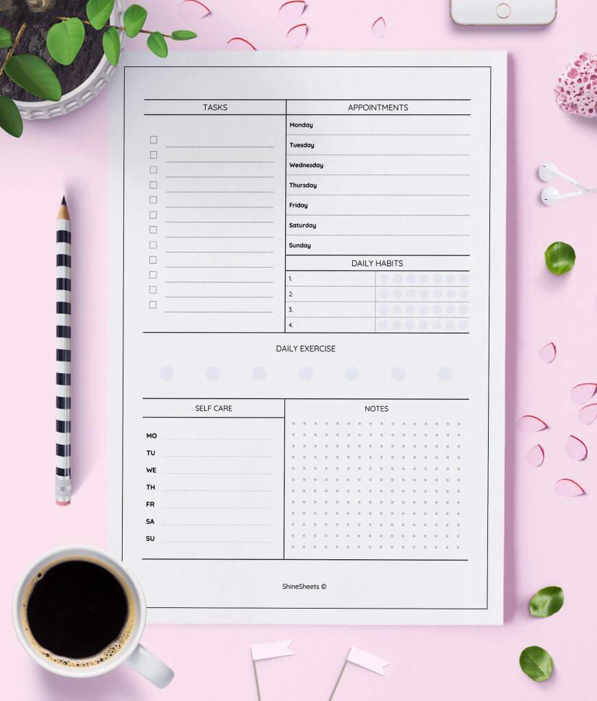 Weekly Planner Printable Week On Two Pages – 3(1)