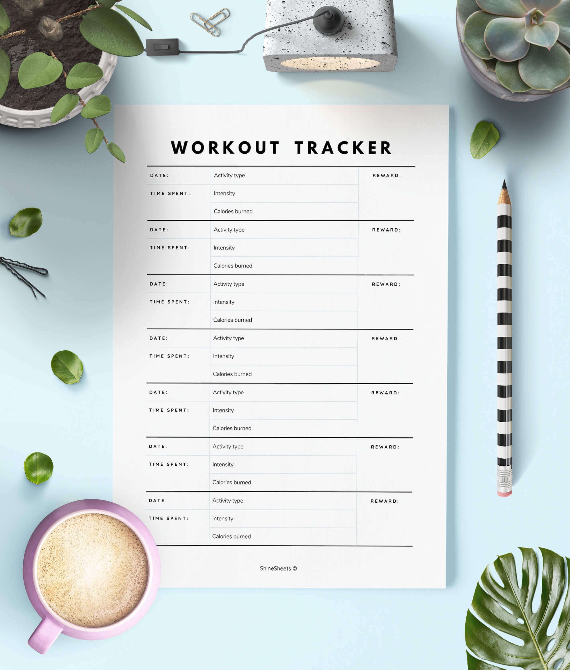 This is a graphic of Printable Workouts regarding upper body