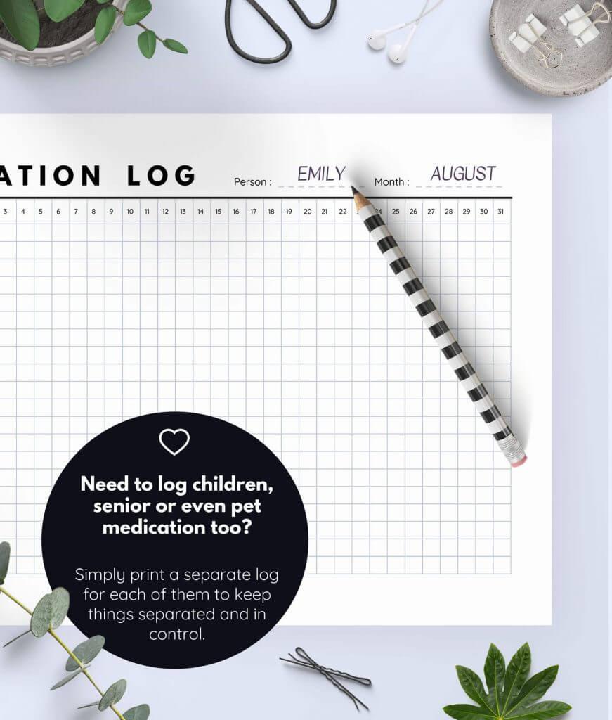 Medication Log Printable 5(1)