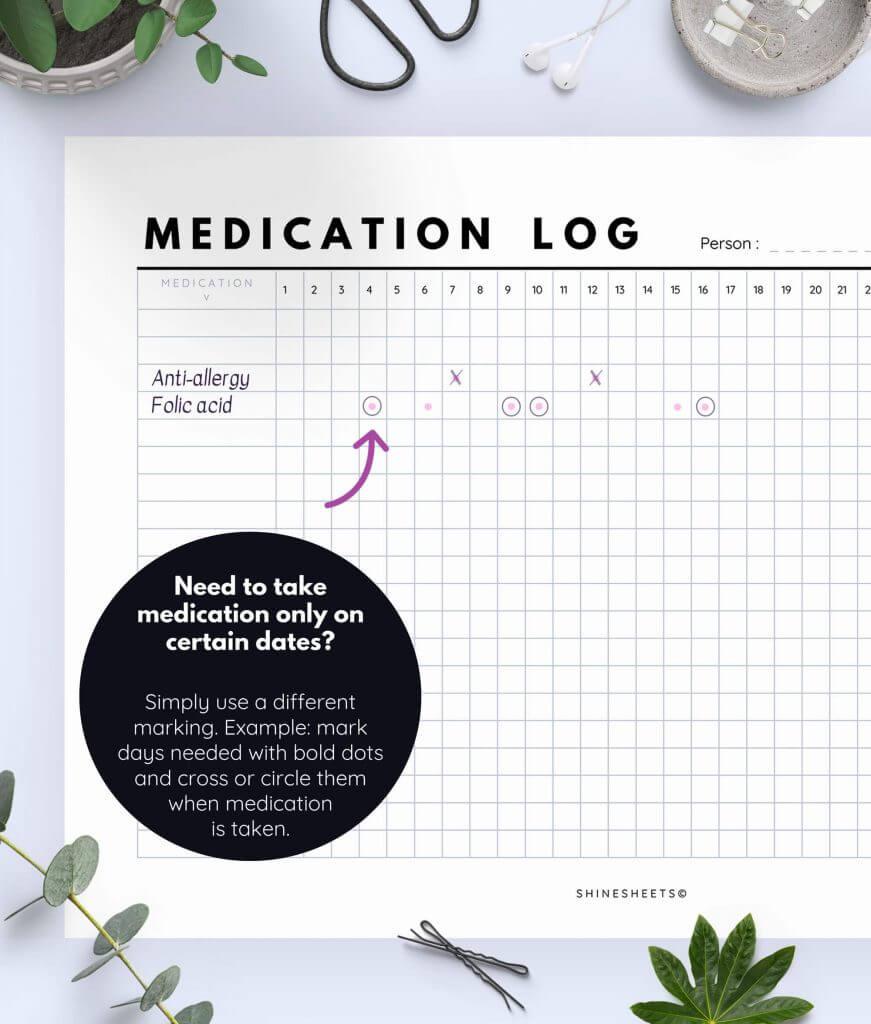 Medication Log Printable 6(1)