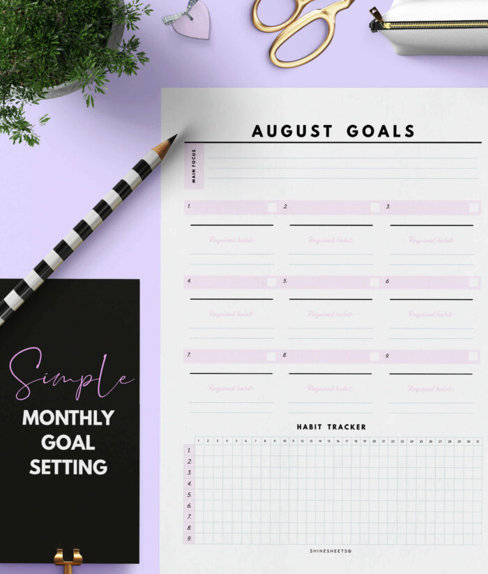 Monthly Goal Planner Printable – 2(1)
