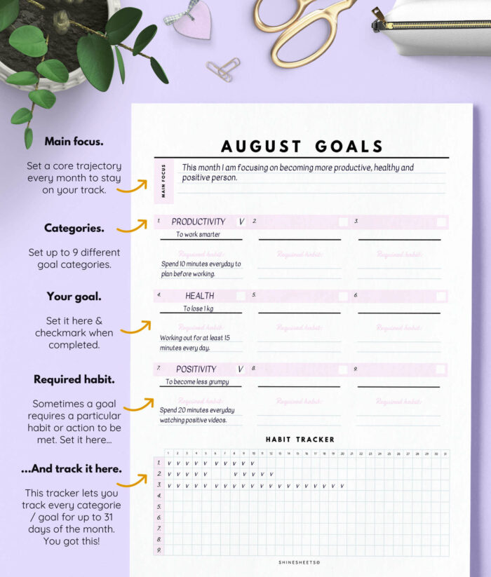 Monthly Goal Planner Printable – 3(1)