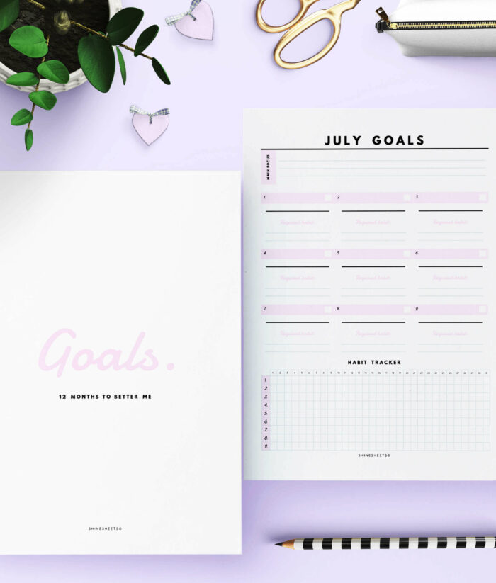Monthly Goal Planner Printable – 4(1)