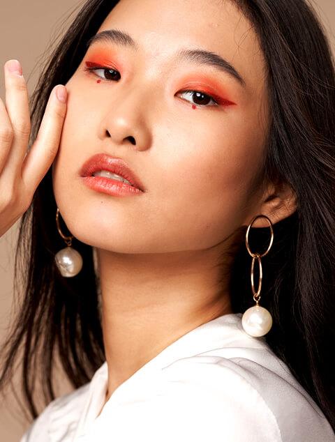 beautiful asian woman after glycolic acid treatment