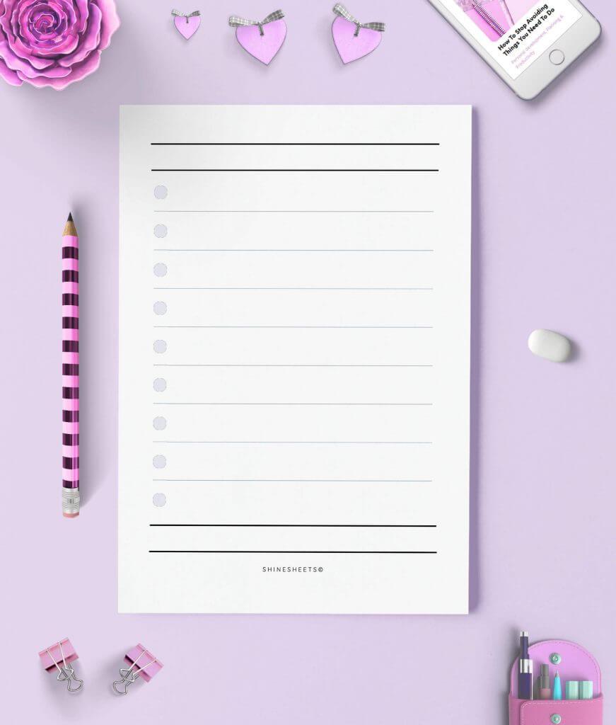 Essential Lists Printable 5(1)