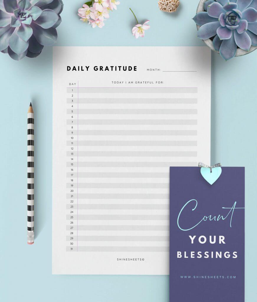 Gratitude Journal Printable – 2G(1)