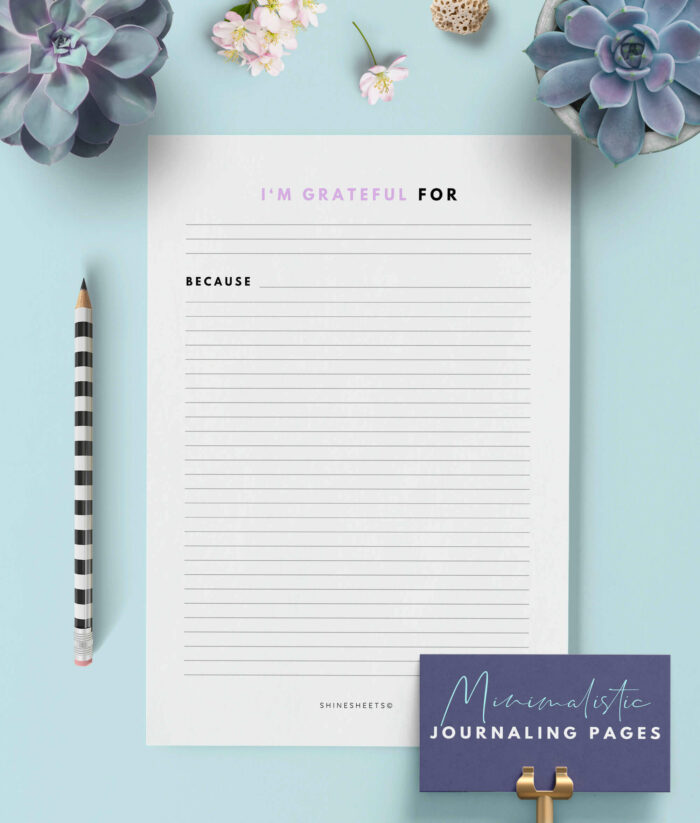Gratitude Journal Printable – 3G(1)