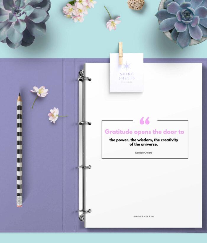 Gratitude Journal Printable – 8(1)