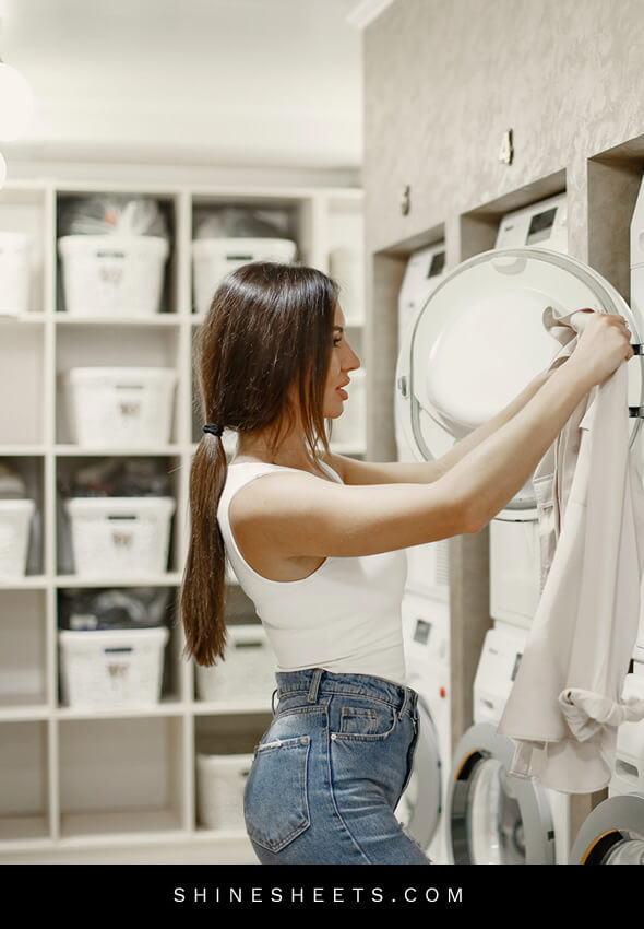 woman decluttering home to get unstuck in life