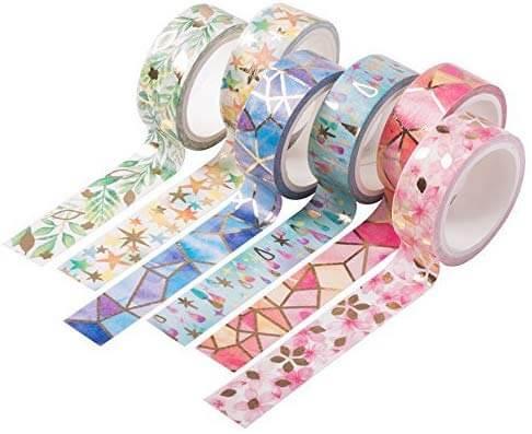 colorful washi tape rolls