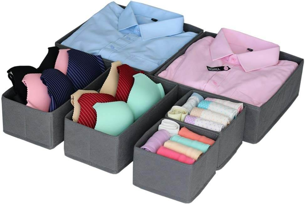 drawer insert boxes as an idea of how to get organized