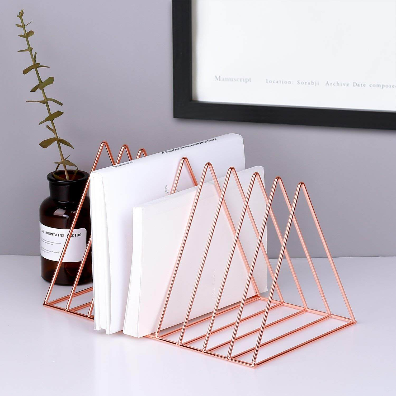 desktop mail holder as an idea of how to get organized