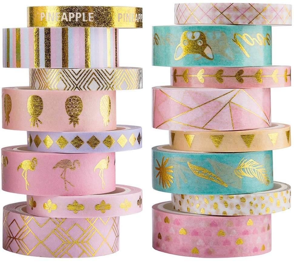 colorful washi tape masking set