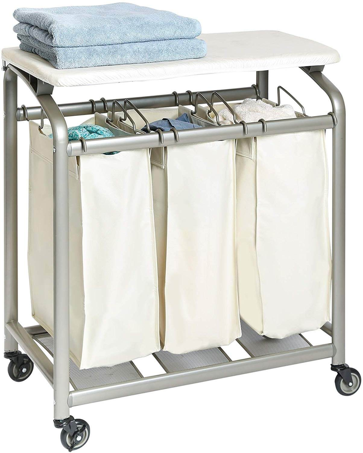 laundry organization cart as an idea of how to get organized