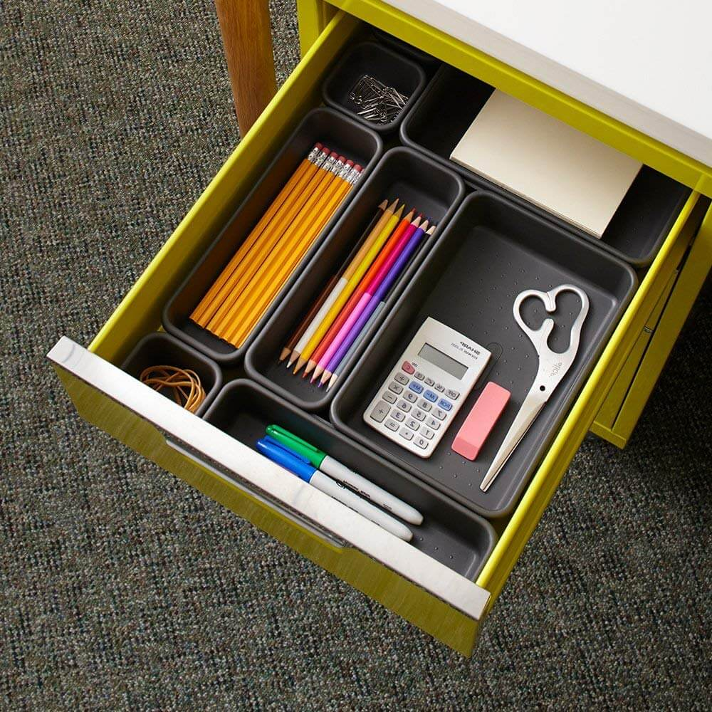 drawer dividers as an idea of how to get organized