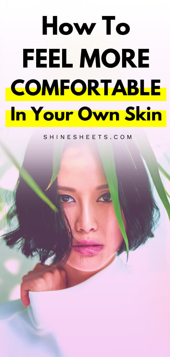Beautiful asian woman with a brave look as an illustration of being comfortable in your own skin