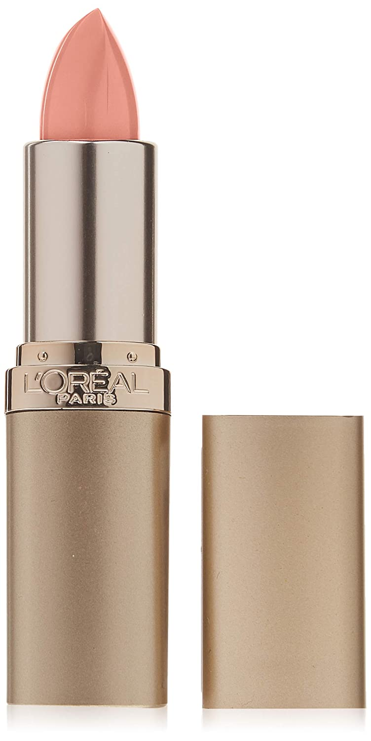 Nude-colored lipstick for wok makeup in golden packaging