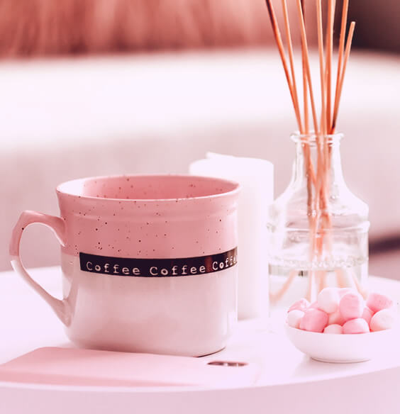setting personal goals with coffee aromatherapy sticks and candy