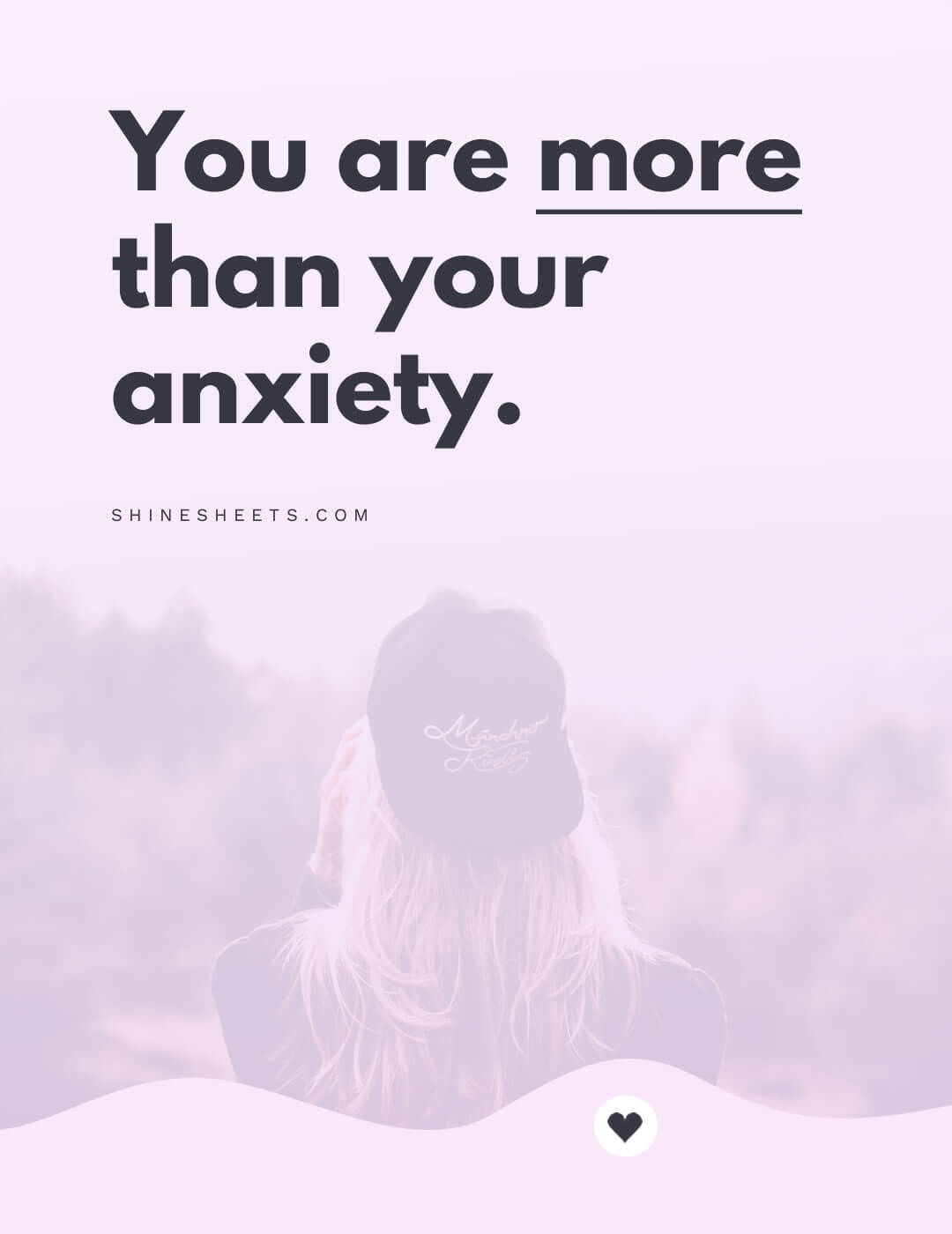 An inspiring quote about personal goals and anxiety