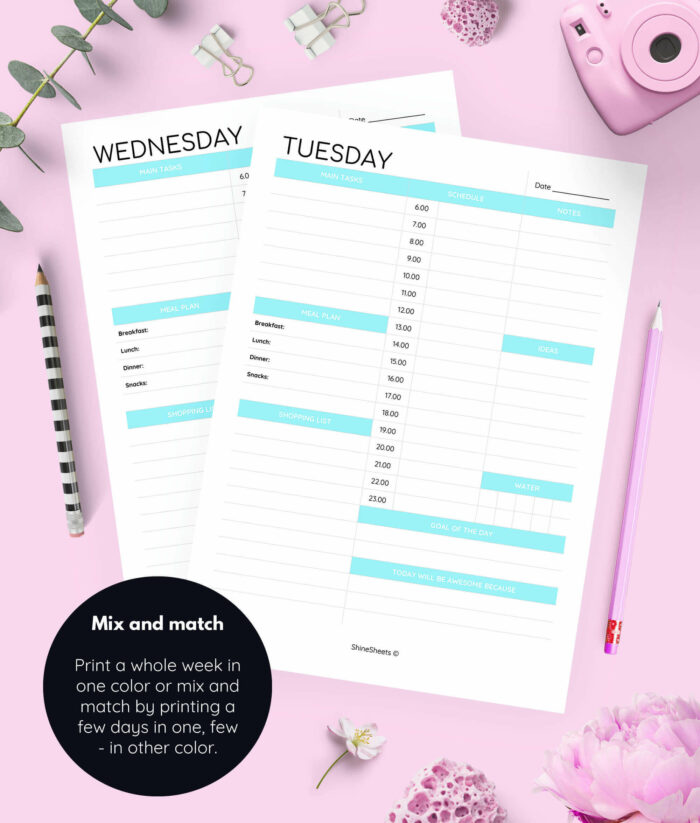 Day On One Page Weekly Planner Printable 2(1)
