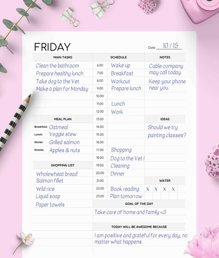 Day On One Page Weekly Planner Printable 3(1)