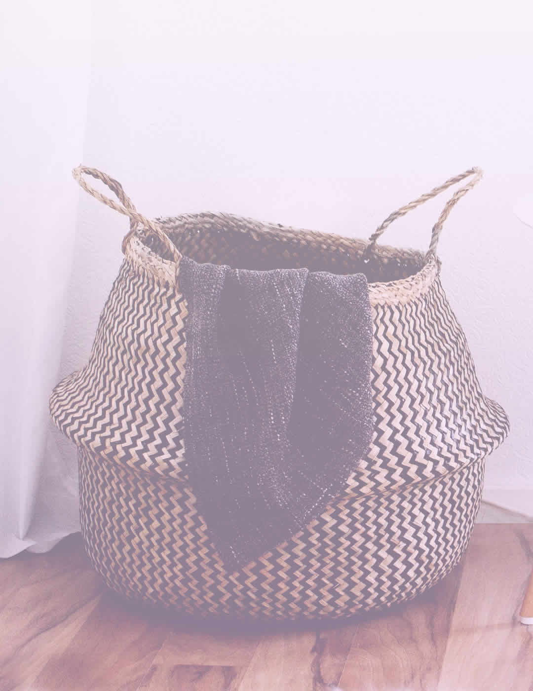 Woven basket for home organization