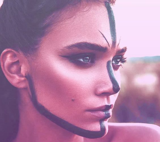 woman with unique painting on her face