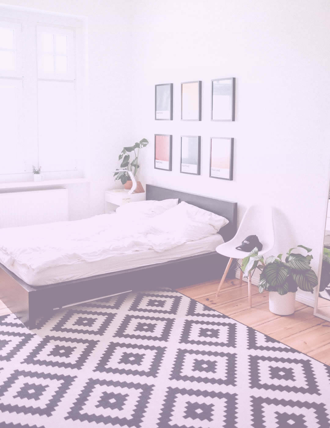 Sparkling clean room after several rounds of home organization