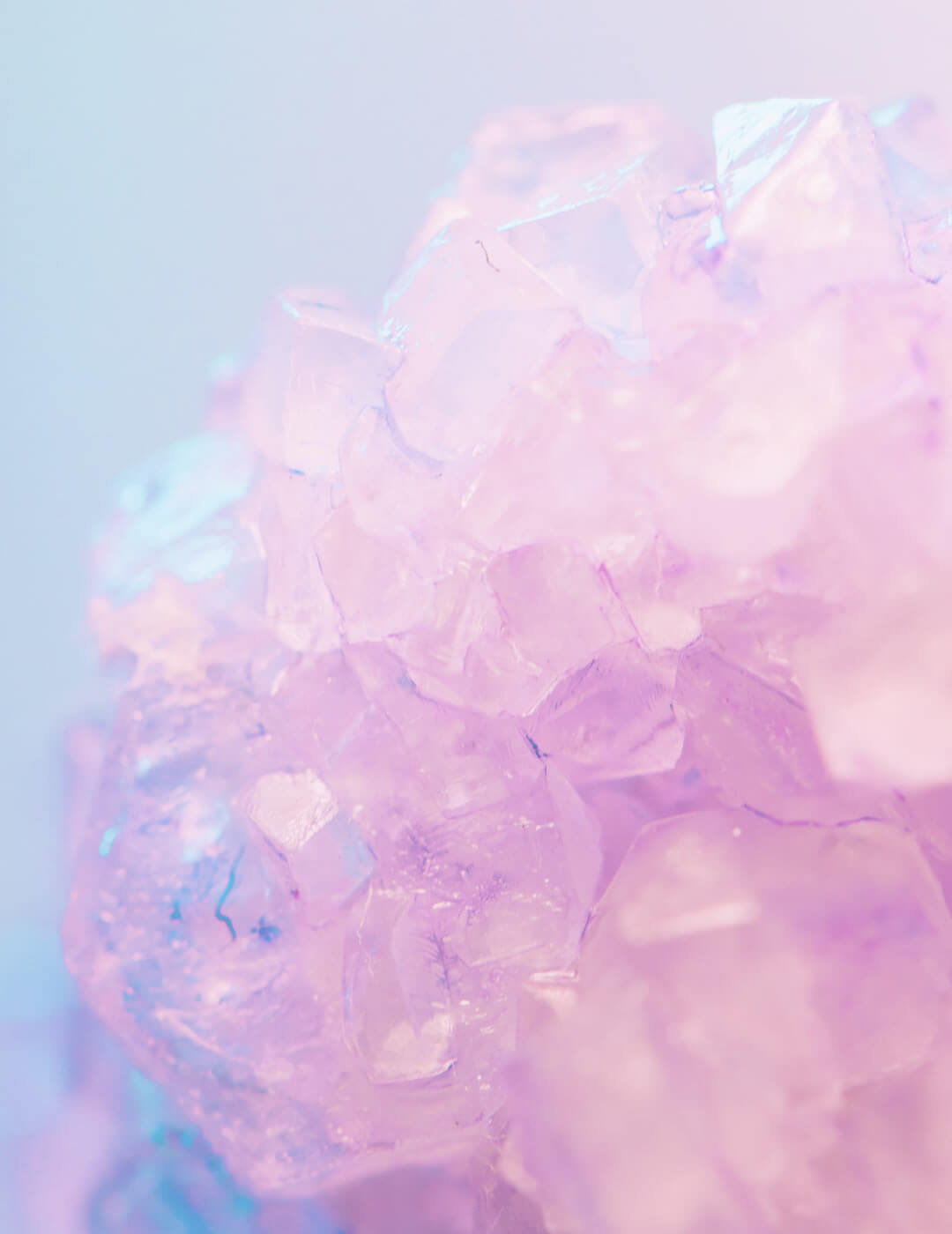 Colorful crystals as an idea for meditation room